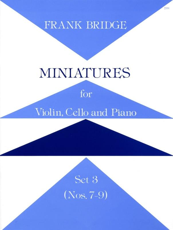 Miniatures - Set 3 n° 7-9 - Parts - Frank Bridge - laflutedepan.com