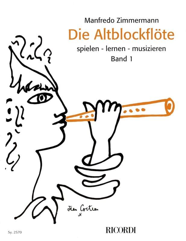 Die Altblockflöte Band 1 - Manfredo Zimmermann - laflutedepan.com