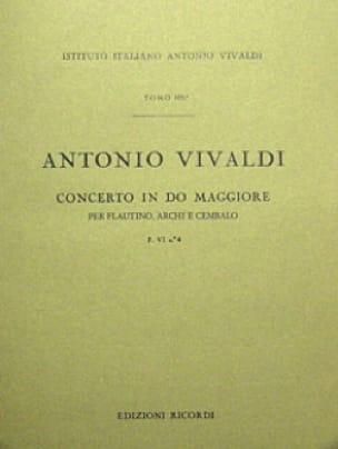 VIVALDI - Concerto in C Maj. - F. 6 n ° 4 - Partitur - Partition - di-arezzo.co.uk