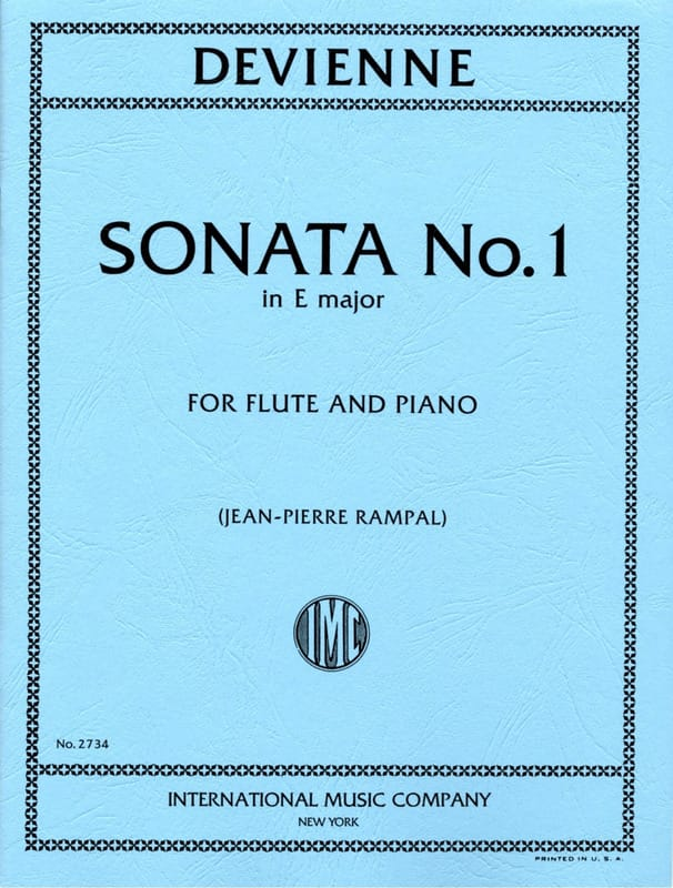 François Devienne - Sonata No. 1 E Minor - Flute Piano - Partition - di-arezzo.co.uk