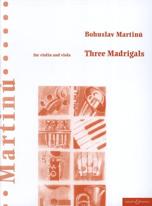 Bohuslav Martinu - 3 Madrigals - Partition - di-arezzo.com