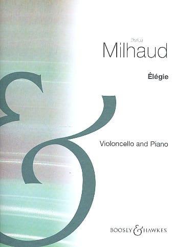 Elégie - MILHAUD - Partition - Violoncelle - laflutedepan.com