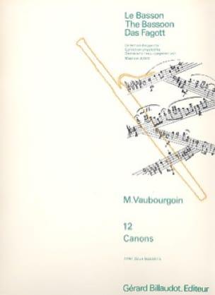 12 Canons - Marc Vaubourgoin - Partition - Basson - laflutedepan.com