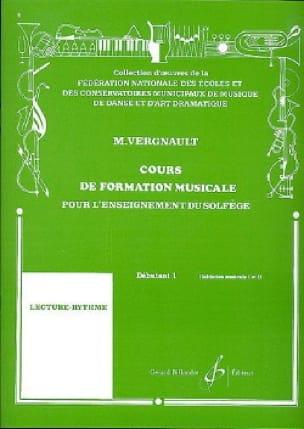 Michel Vergnault - Curso de entrenamiento musical - Principiante 1 - Partition - di-arezzo.es