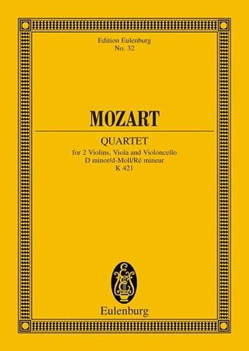 MOZART - Streichquartett D-Moll Kv 421 - Driver - Partition - di-arezzo.com