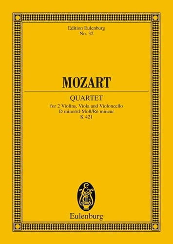 MOZART - Streichquartett D-Moll Kv 421 - Conducteur - Partition - di-arezzo.fr