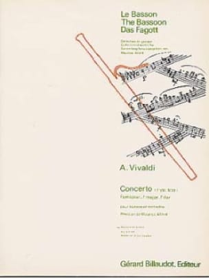 VIVALDI - Concerto F. 8 N ° 19 in F Major - Partition - di-arezzo.co.uk