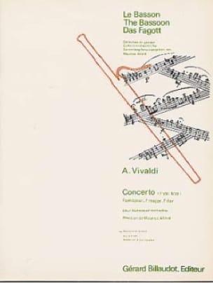 Concerto F. 8 n° 19 en fa majeur pour basson - Conducteur - laflutedepan.com