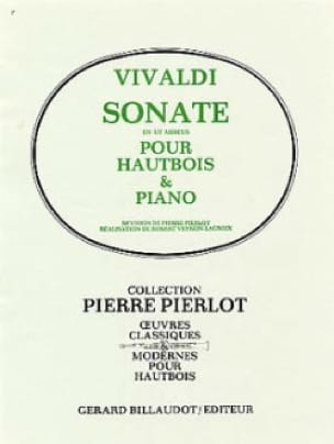 VIVALDI - C minor sonata - Oboe - Partition - di-arezzo.co.uk