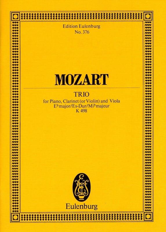 Trio Es-Dur KV 498 - MOZART - Partition - laflutedepan.com