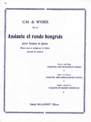 Andante et Rondo hongrois op. 35 Dhérin - laflutedepan.com