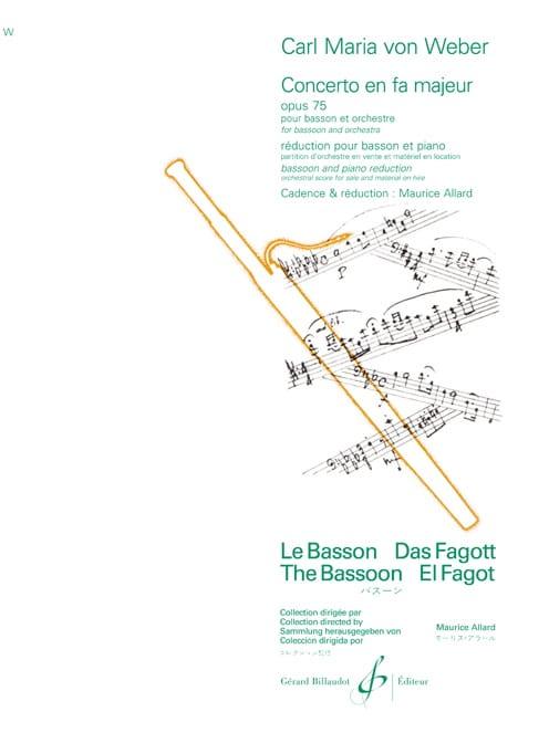 Carl Maria von Weber - Concerto in F Major Op. 75 - Partition - di-arezzo.com