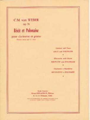 Récit et Polonaise op. 74 - Carl-Maria Von Weber - laflutedepan.com