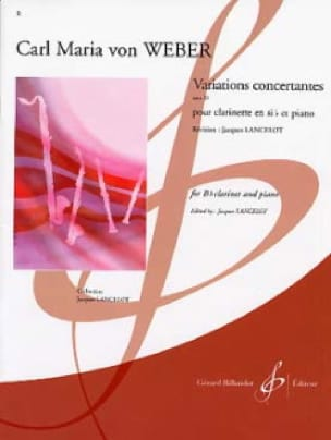 Carl Maria von Weber - Concerted Variations op. 33 - Partition - di-arezzo.co.uk