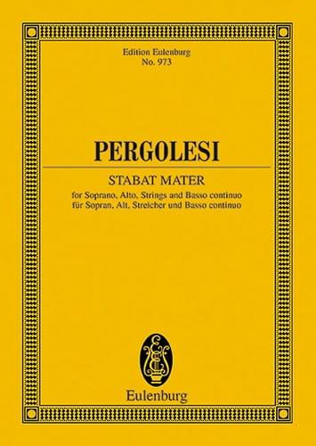 Stabat Mater - Partitur - PERGOLESE - Partition - laflutedepan.com