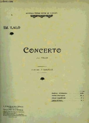 Edouard Lalo - Violin Concerto op. 20 - Partition - di-arezzo.co.uk