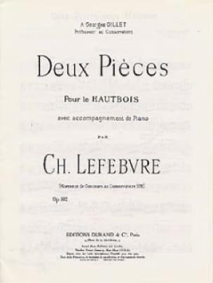 Deux Pièces Op. 102 - Charles Edouard Lefebvre - laflutedepan.com