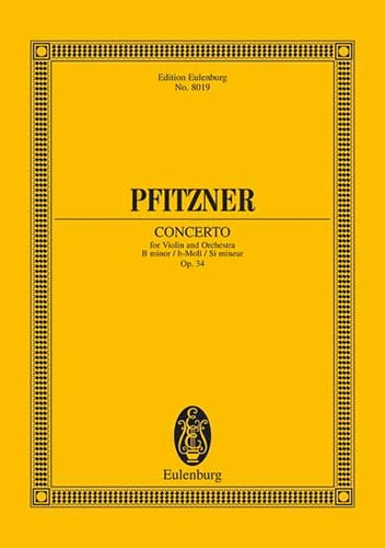 Concerto Violon si mineur op. 34 - Conducteur - laflutedepan.com