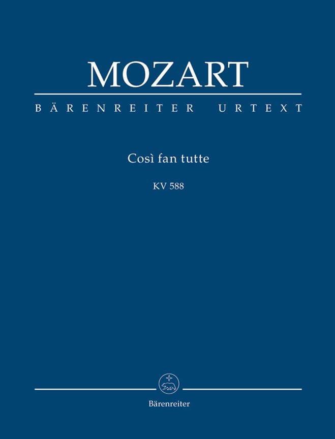 Cosi Fan Tutte - Conducteur - MOZART - Partition - laflutedepan.com