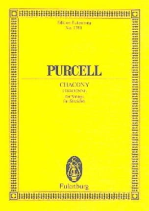 Henry Purcell - Chacony - Partition - di-arezzo.co.uk