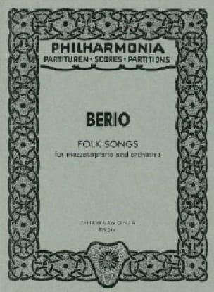 Folk Songs - mezzosoprano and orchestra 1973 - Score - laflutedepan.com