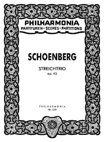 Streichtrio op. 45 - Partitur - SCHOENBERG - laflutedepan.com