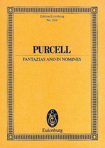 Henry Purcell - Fantazias and In Nomines - Partition - di-arezzo.co.uk