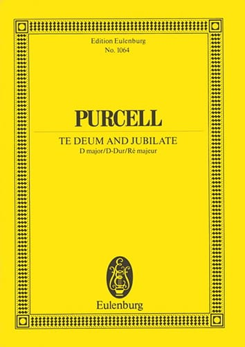 Te Deum and Jubilate - Henry Purcell - Partition - laflutedepan.com