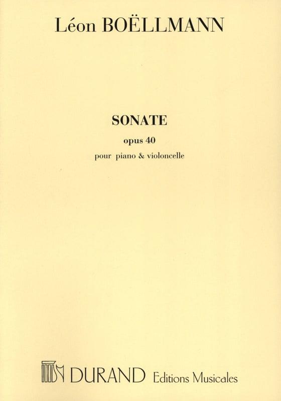 Léon Boëllmann - Sonata op. 40 - Partition - di-arezzo.es