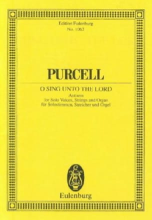 Henry Purcell - Singt, singlet dem Herrn - Partition - di-arezzo.co.uk
