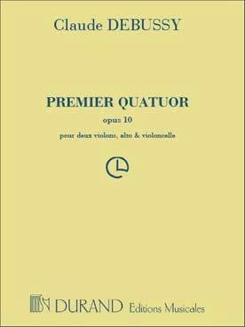 DEBUSSY - String quartet no. 1 op. 10 - Parties - Partition - di-arezzo.com