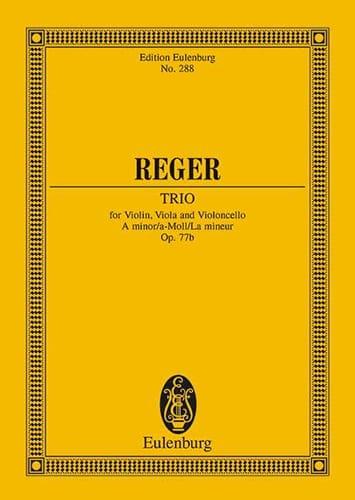 Streich-Trio a-Moll, op. 77b a-Moll - Max Reger - laflutedepan.com