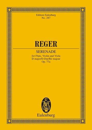 Trio D-Dur, op. 77a - Partitur - Max Reger - laflutedepan.com