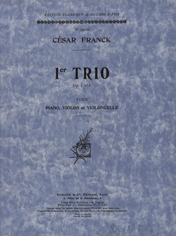 Trio op. 1 n° 1 -Parties - FRANCK - Partition - laflutedepan.com