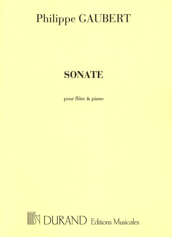 Philippe Gaubert - Sonata No. 1 - Flute and Piano - Partition - di-arezzo.com