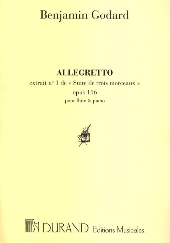 Benjamin Godard - Allegretto - Partition - di-arezzo.co.uk