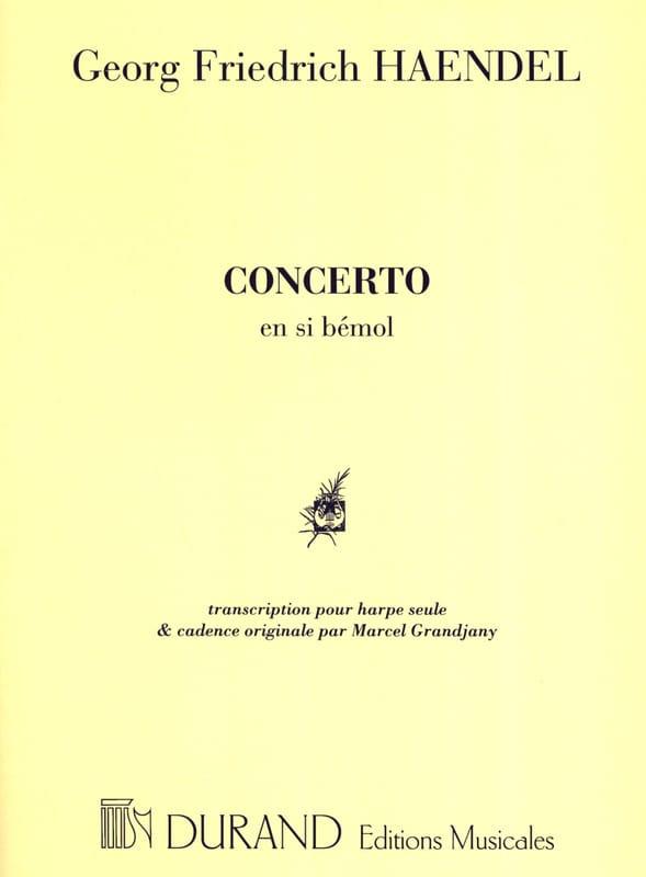 HAENDEL - Concerto in B flat Harp Grandjany - Partition - di-arezzo.co.uk