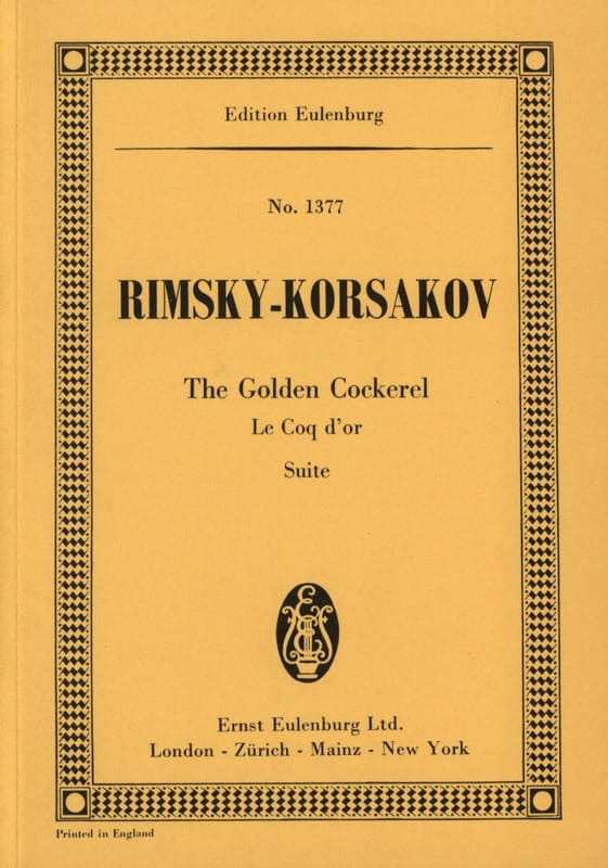 Nicolaï Rimsky-Korsakov - The Golden Cockerel Suite - Partition - di-arezzo.it