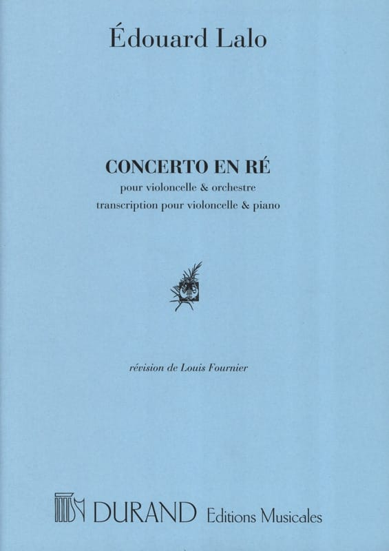 Edouard Lalo - Concerto in C Minor for Cello - Partition - di-arezzo.com