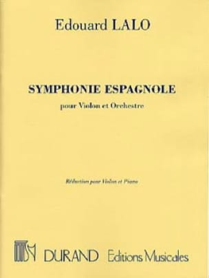 Edouard Lalo - Spanish Symphony op. 21 - Partition - di-arezzo.co.uk
