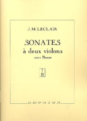 Jean-Marie Leclair - Sonatas with 2 violins without bass op. 12 - Partition - di-arezzo.com
