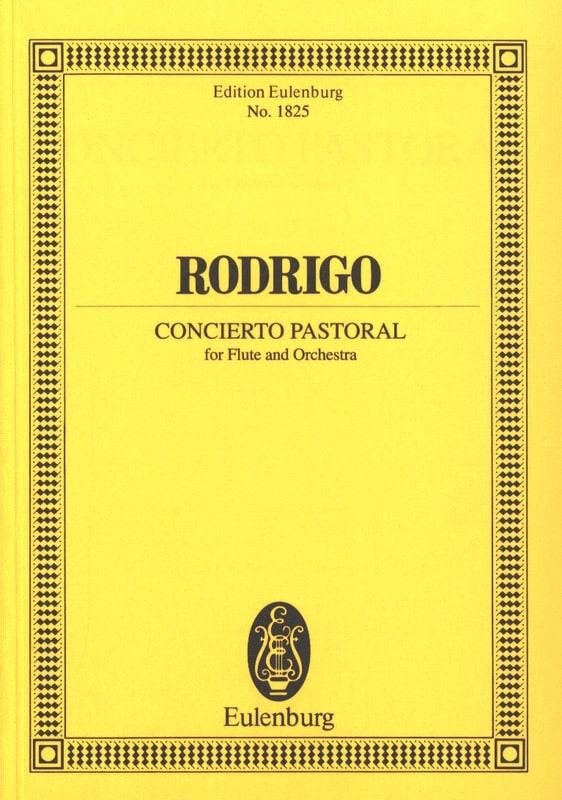 Concierto Pastoral - RODRIGO - Partition - laflutedepan.com