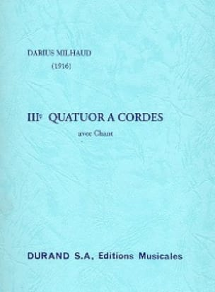 Darius Milhaud - String Quartet No. 3 - Conductor - Partition - di-arezzo.com