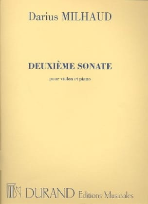 Sonate N° 2 - Violon - MILHAUD - Partition - Violon - laflutedepan.com