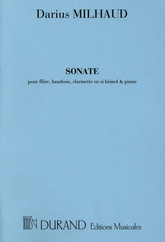 Sonate Op. 47 1918 - MILHAUD - Partition - Quatuors - laflutedepan.com