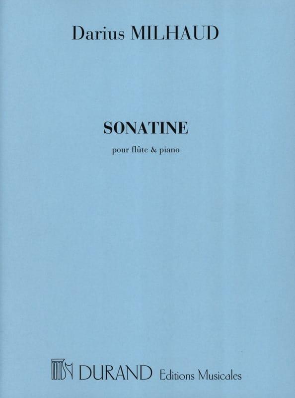 Sonatine - Flûte piano - MILHAUD - Partition - laflutedepan.com