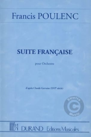 Francis Poulenc - French Suite for Orchestra - Conductor - Partition - di-arezzo.co.uk