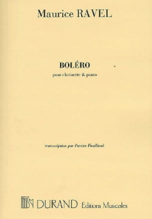 Maurice Ravel - Boléro - Clarinette - Partition - di-arezzo.fr