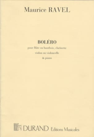 Maurice Ravel - Bolero - Partition - di-arezzo.co.uk