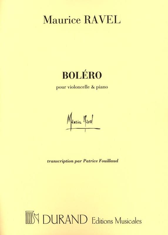 Boléro - Violoncelle piano - RAVEL - Partition - laflutedepan.com